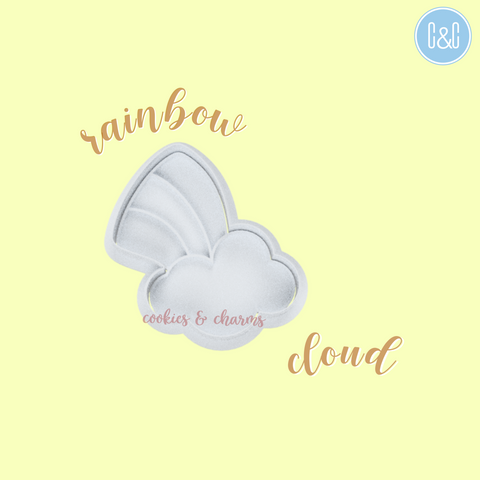 Rainbow Cloud Cutter and Embosser set by cookies and charms