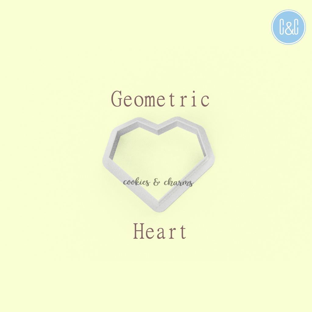 Geometric Heart Clay Cutter from cookies and charms