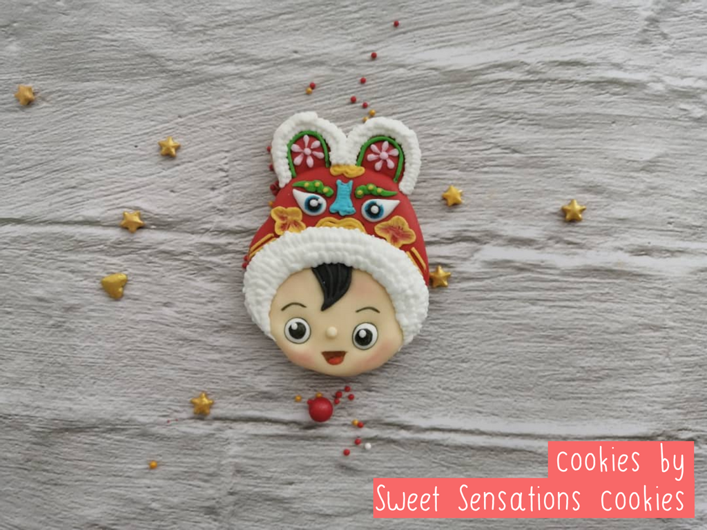 Chinese Baby Boy cookie decorated by Sweet sensations cookies