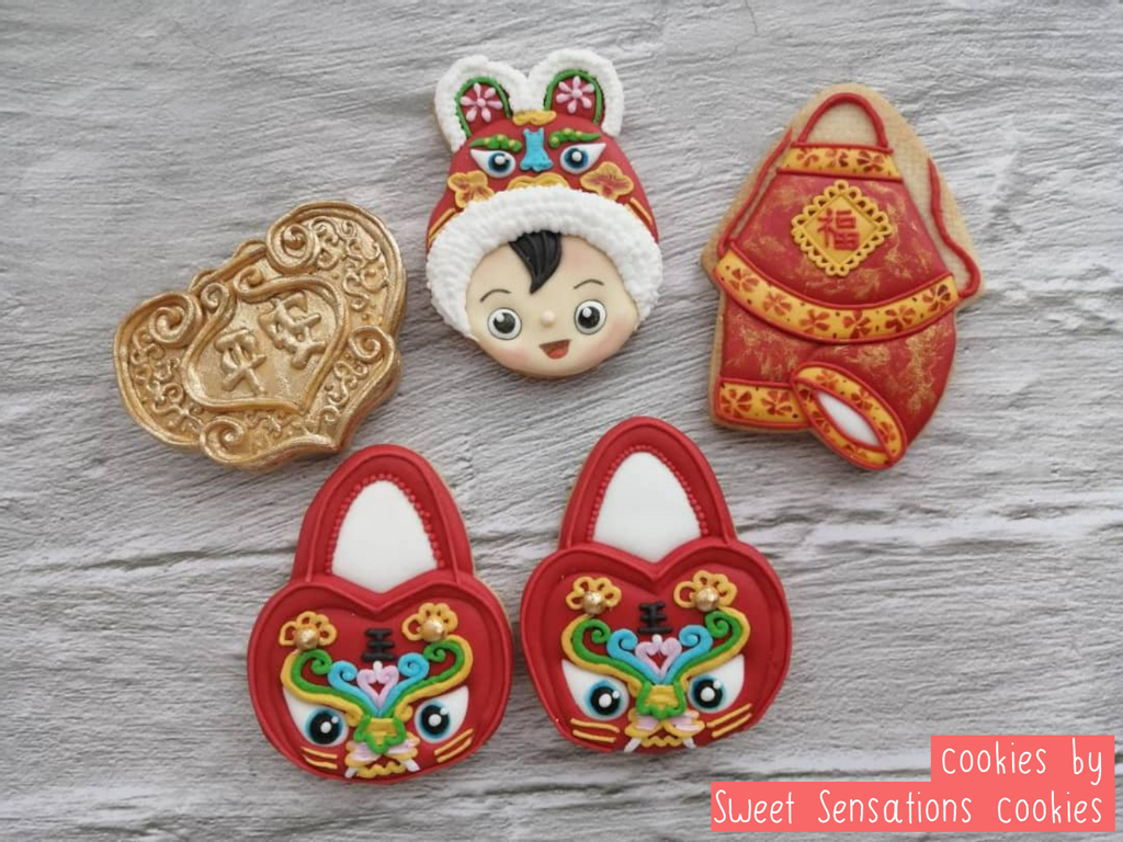Bundle Chinese Themed Baby Shower cookie decoration by Sweet Sensations Cookies
