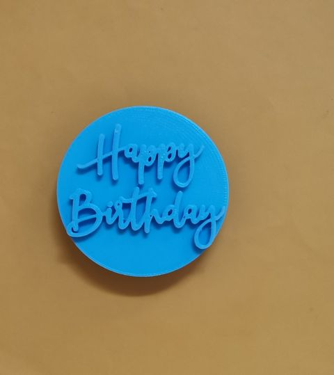 Happy Birthday Embosser by cookies and charms to singapore