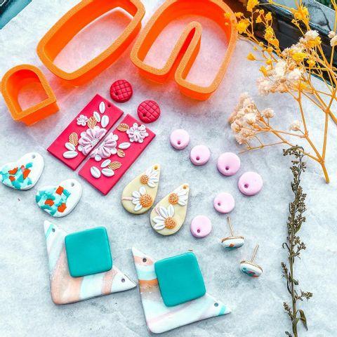 Personalized putriysmne malaysia clay earring design