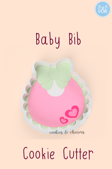 Baby bib with ribbon cookie cutter.png