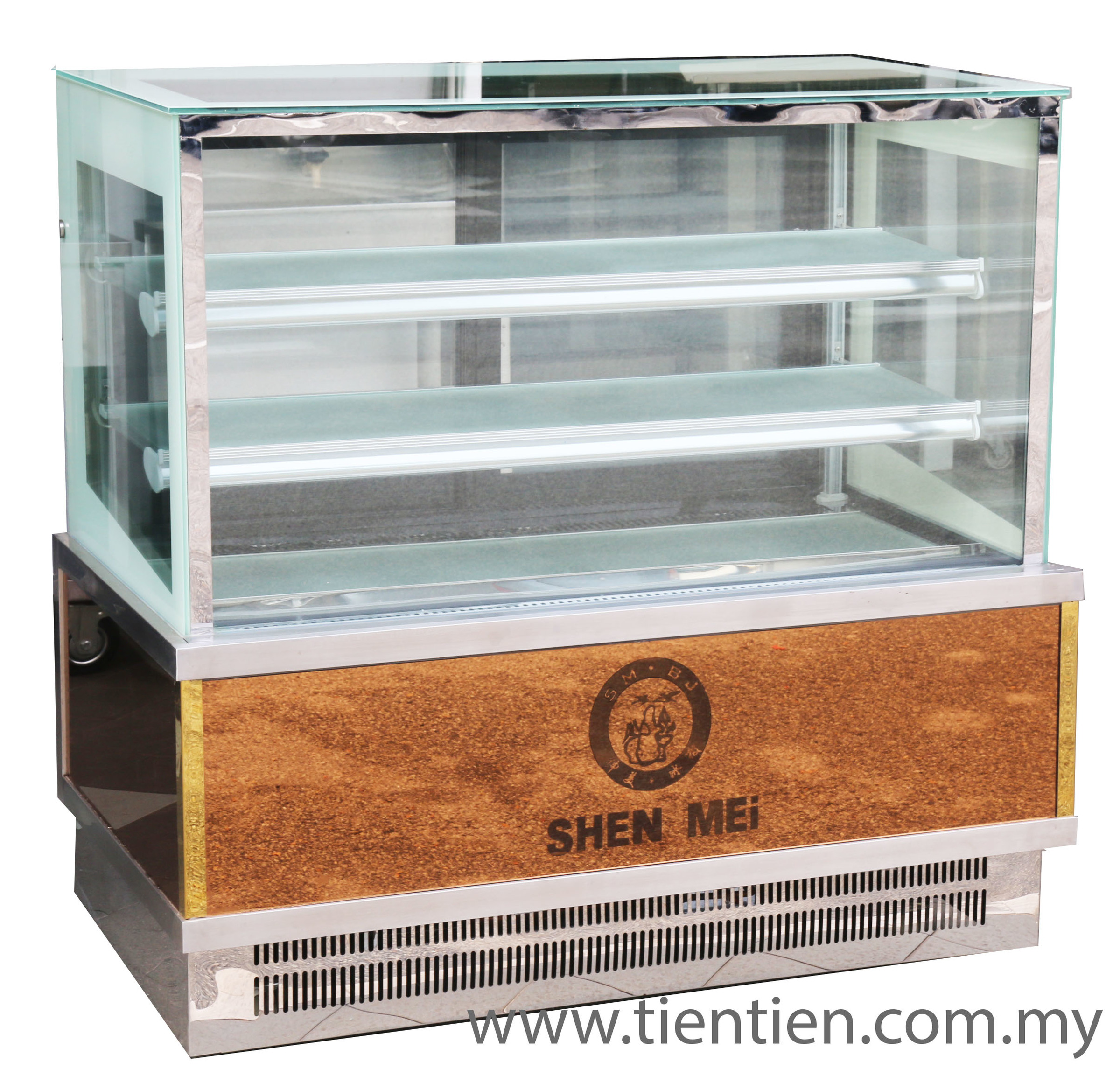 4FT CAKE DISPLAY CHILLER SHOWCASE GOLD BOTTOM BACK OPENING MALAYSIA TIEN TIEN.jpg
