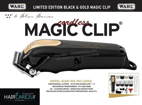 WAHL 5 STAR LIMITED EDITION CORDLESS MAGIC CLIP BLACK & GOLD CLIPPER #8148-100 3.jpg