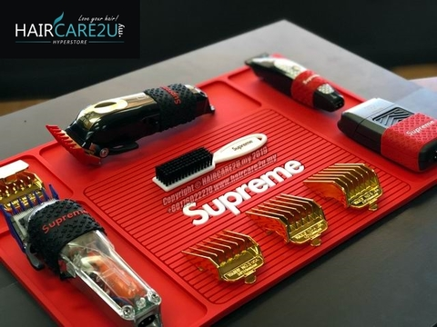 Supreme Professional Anti Slip Station Large Barber Mat Red.jpg