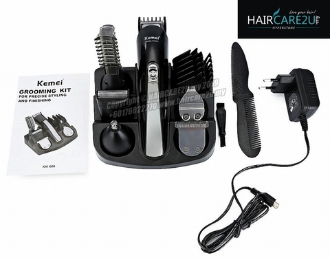 Kemei KM-600 All in One Super Grooming Kit Rechargeable Trimmer 21.jpg