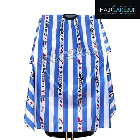 Blue Stripes BarberShop Hair Cutting Cloth Barber Salon Cape 2.jpg