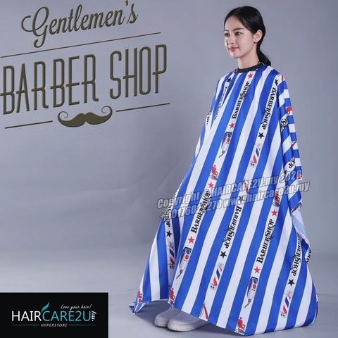 Blue Stripes BarberShop Hair Cutting Cloth Barber Salon Cape.jpg