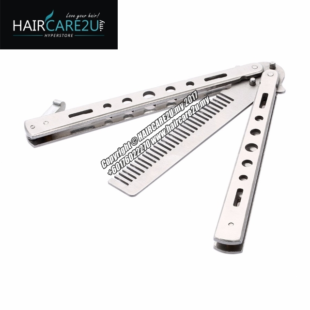 Barber Stainless Steel Butterfly Switch Comb Silver 8.jpg