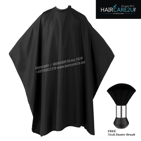 140cm x 160cm Barber Salon Extra Large Black Cutting Cape.jpg
