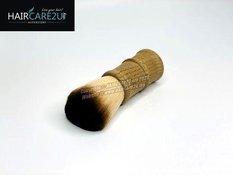 E13 Megaga Barber & Salon Soft Neck Face Duster Wooden Hair Brush 2.jpg
