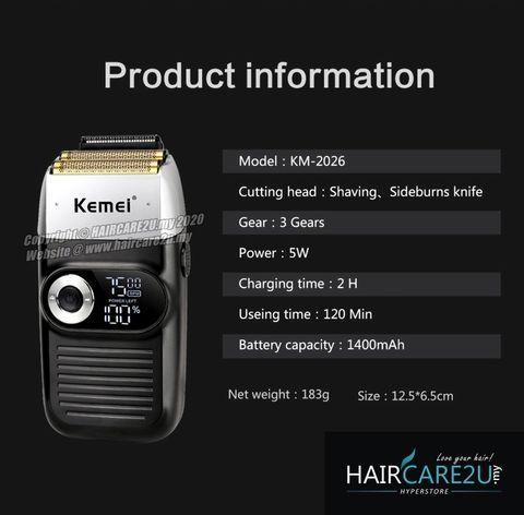 Kemei KM-2026 LCD Display Barber Electric Shaver 7.jpg