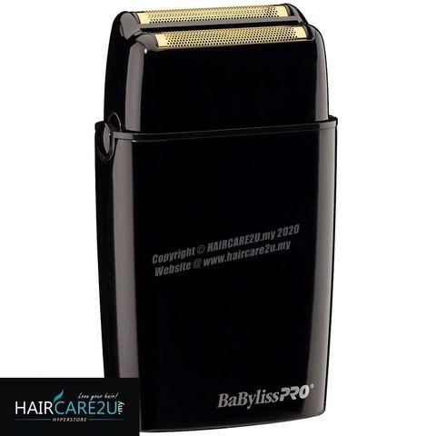 BaByliss Pro FOILFX02 Cordless Black Metal Double Foil Shaver #FXFS2B 2.jpg
