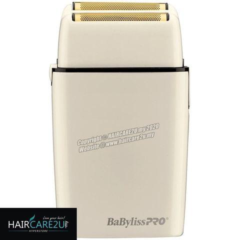 BaByliss Pro FOILFX02 Cordless White Metal Double Foil Shaver #FXFS2W.jpg