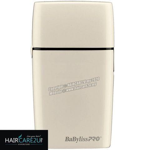 BaByliss Pro FOILFX02 Cordless White Metal Double Foil Shaver #FXFS2W 4.jpg