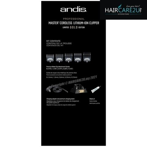 Andis Master Cordless LIMITED GOLD EDITION Clipper #12540 10.jpg