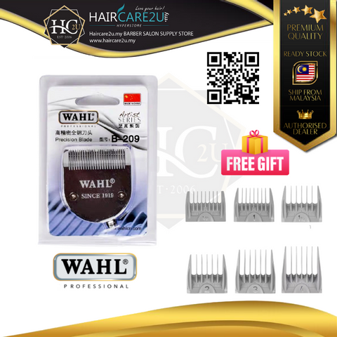 B-209 Wahl Blade for Model 2235 with 6 size Attachment Comb Poster.png