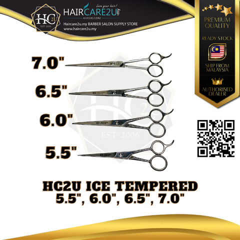 HC2U ICE Tempered Stainless Classical 600 Barber Scissor Poster 2.png