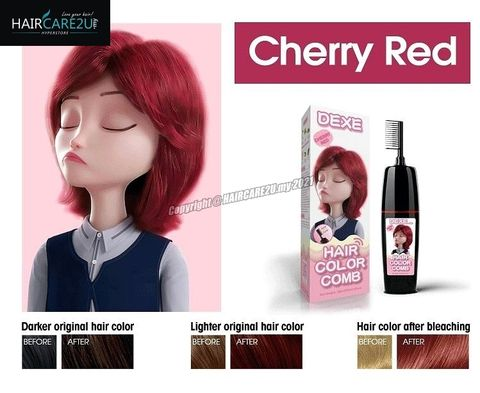 90ml+90ml DEXE Comb Packing Hair Color Shampoo (Cherry Red) 2.jpg