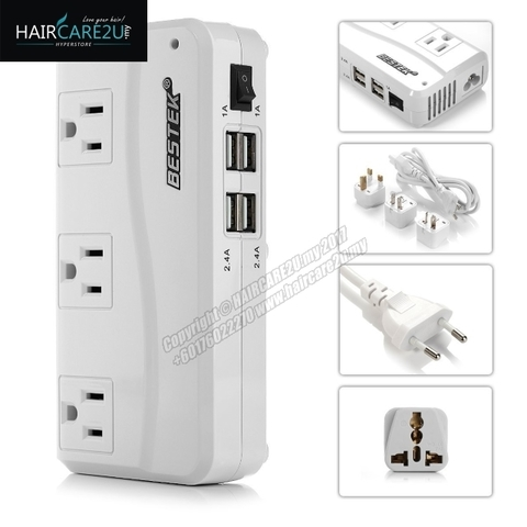 BESTEK Universal Travel Adapter 220V to 110V Voltage Converter with 6A 4-Port USB Charging Worldwide Plug Adapter White 2.jpg