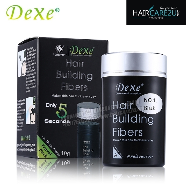 10g Dexe Hair Building Fibers (FREE 180ml Rising Up Hair Spray).jpg