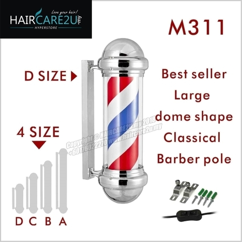 M311D Silver Rotating Classical Barber Pole Lamp 2.jpg