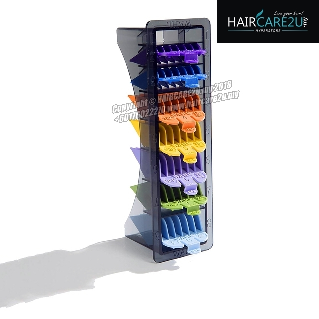 Wahl Barber 8 Pack Colored Hair Cutting Guides Clipper Attachment Comb 3.jpg