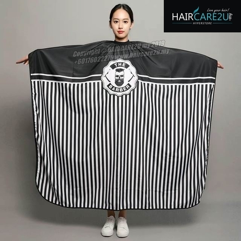 The Barber Head Black & White Stripes Cutting Cloth Salon Cape 11.jpg