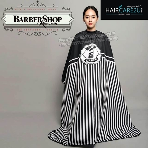 The Barber Head Black & White Stripes Cutting Cloth Salon Cape.jpg
