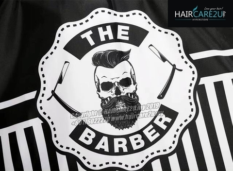 The Barber Head Black & White Stripes Cutting Cloth Salon Cape 3.jpg