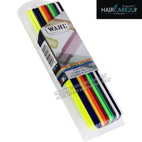 Wahl 12 Pack Flat Top Assorted Coloured Clipper Combs #3206-200 2.jpg