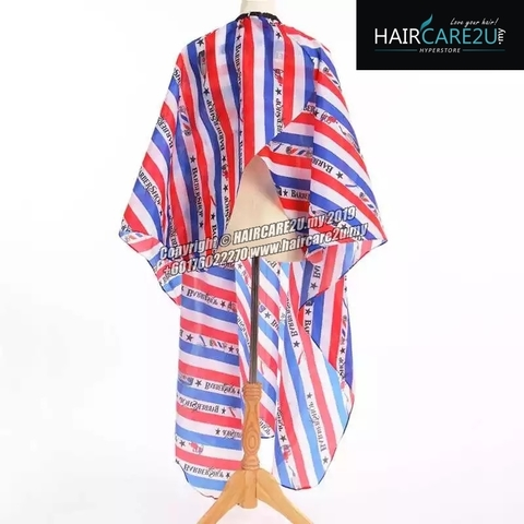 Blue Stripes BarberShop Cutting Cloth Salon Cape 4.jpg