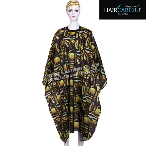 Barber Tools Black Gold Cutting Cloth Salon Cape.jpg