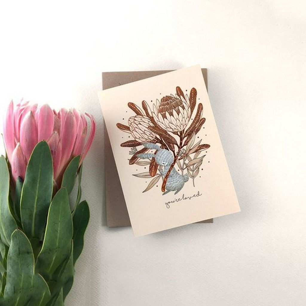 You're-Loved-Rabbit-King-Protea-Copper-Foil-Greeting-Card-Gallery.jpg