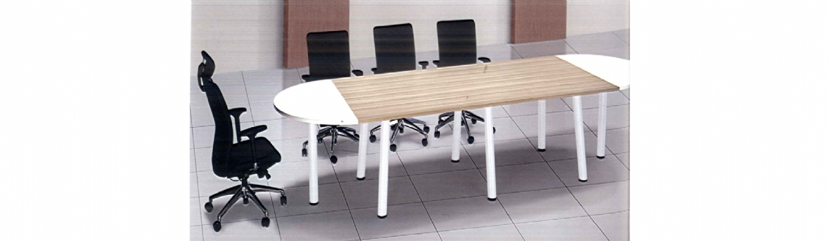 RECTANGULAR CONFERENCE TABLE MODEL V BV HALF ROUND TOP MODEL - Half circle conference table