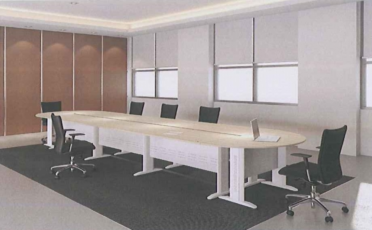 Oval Shape Meeting Room Conference Table Set Model LZiLS - Oval shaped conference table