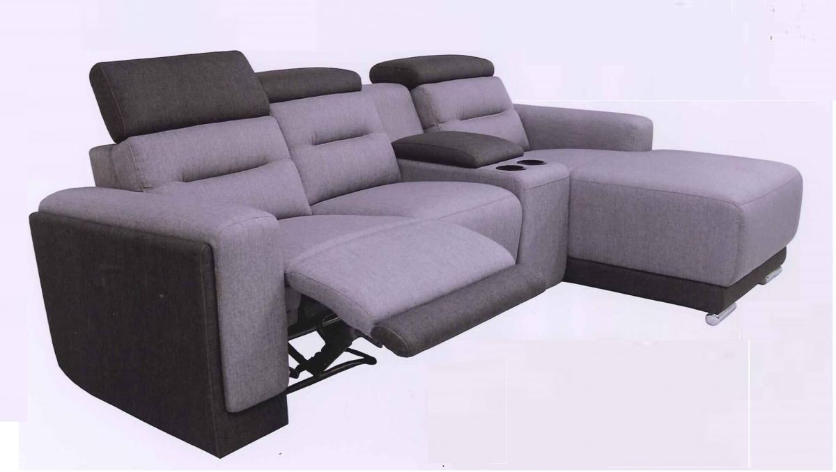 L shape recliner sofa set water proof fabric model r for Sofa chair malaysia
