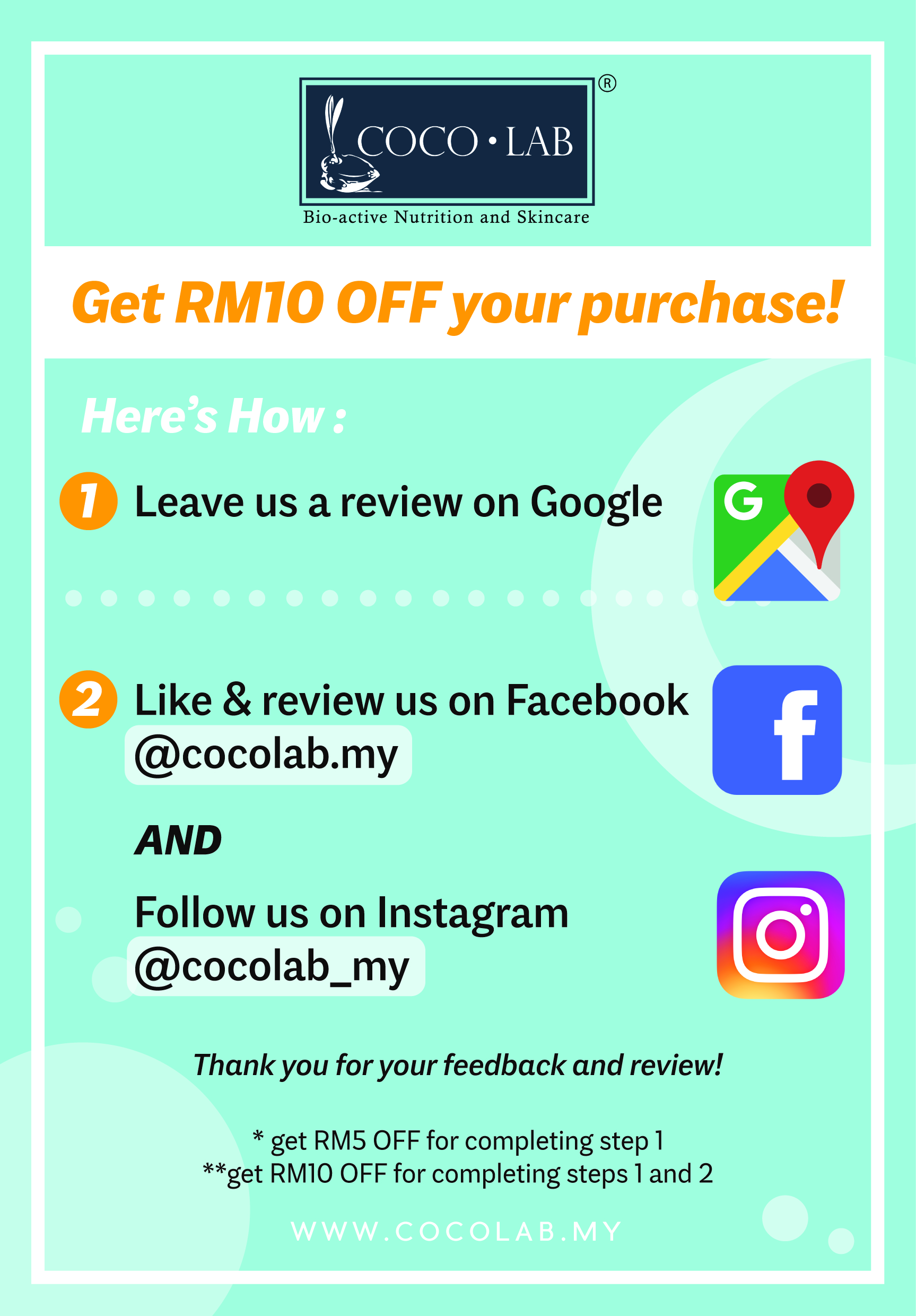 Review and get RM10 at COCOLAB
