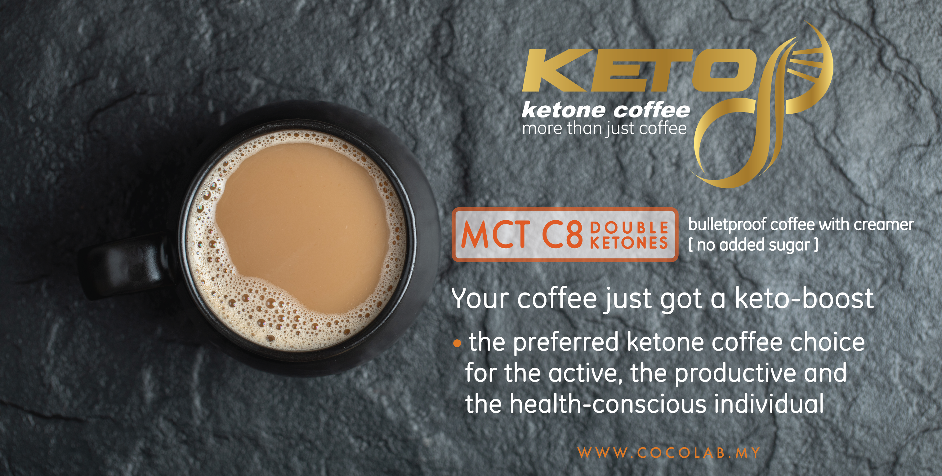 COCOLAB Keto8 Coffee bulletproof coffee for the active and health conscious