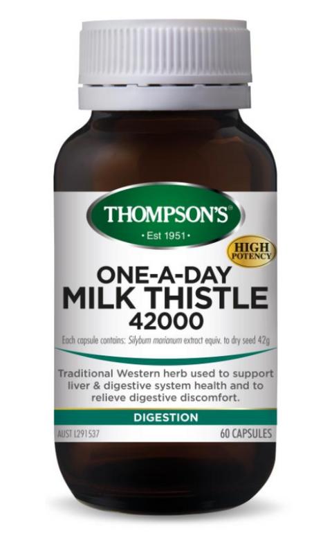 Thompsons湯普森 milk thistle 42000mg 奶薊草精華60粒