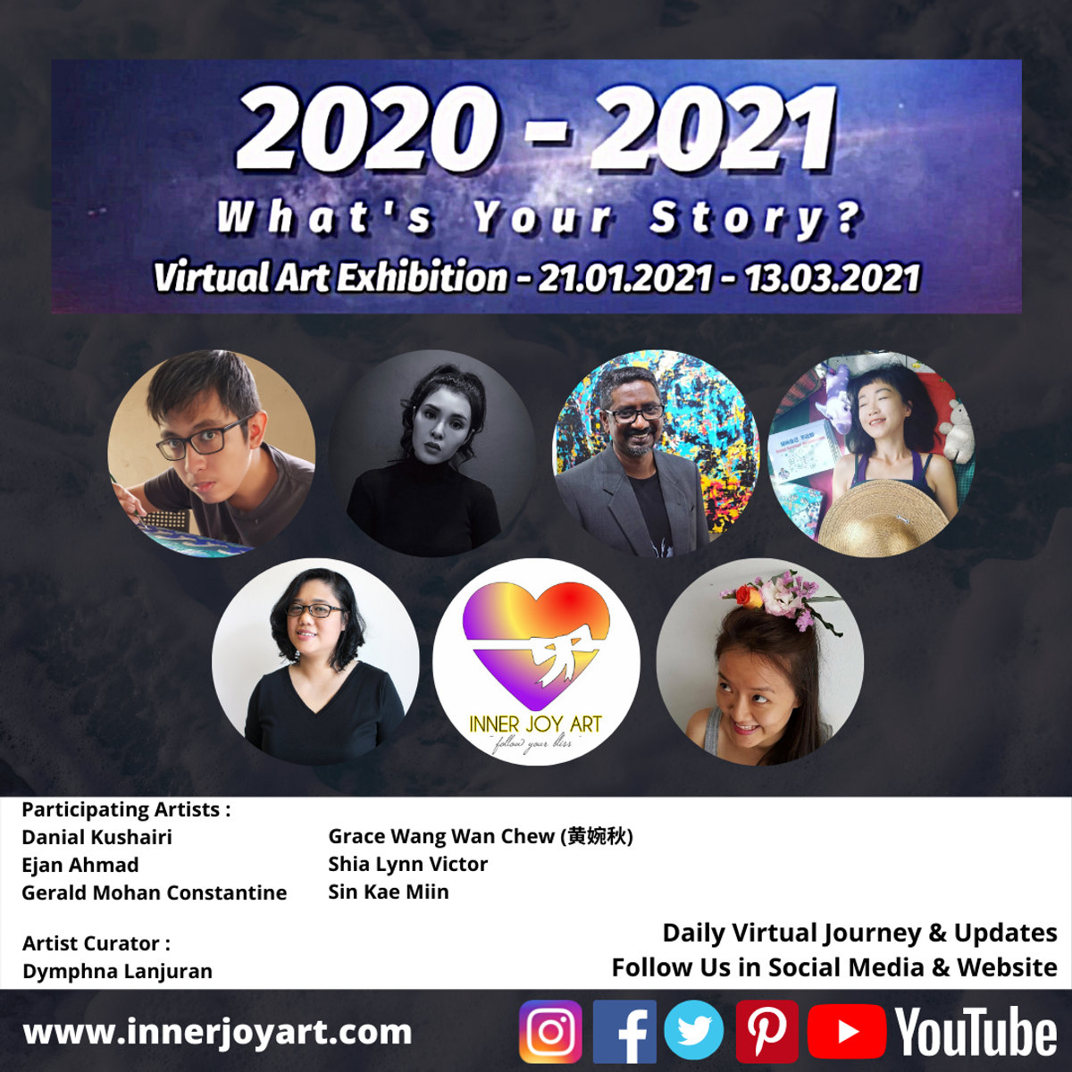 """""""2020 - 2021 : What's Your Story"""" Virtual Art Exhibition"""