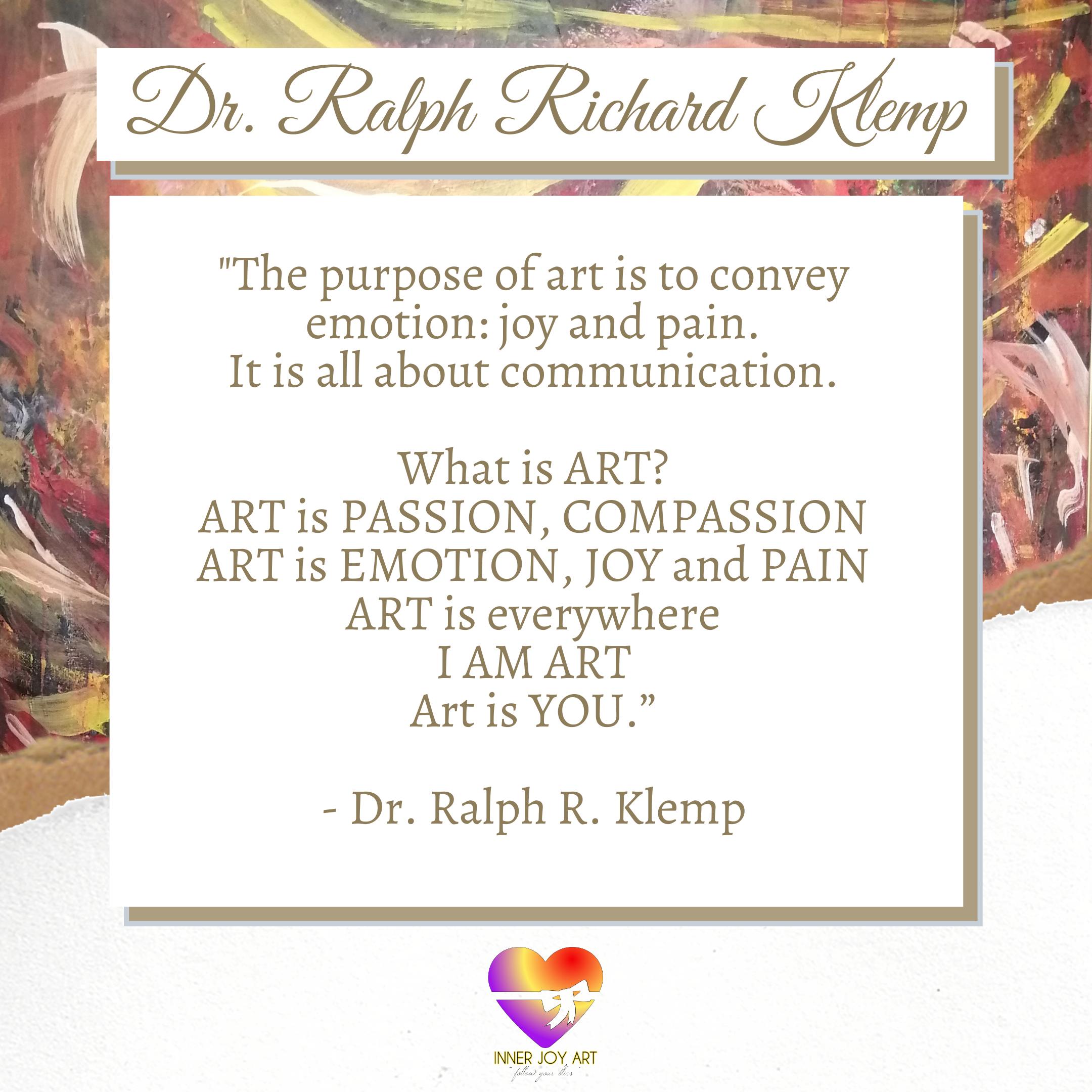 Ralph Richard Klemp Artist Statement