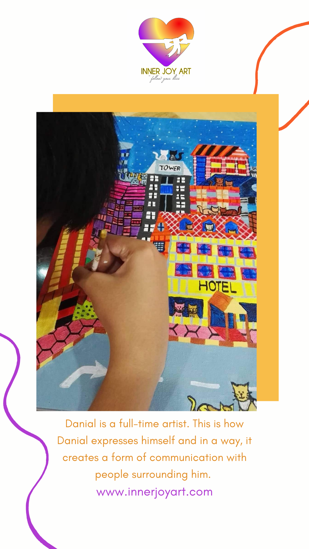Inner Joy Art Gallery Danial Kushairi young talent autistic artist