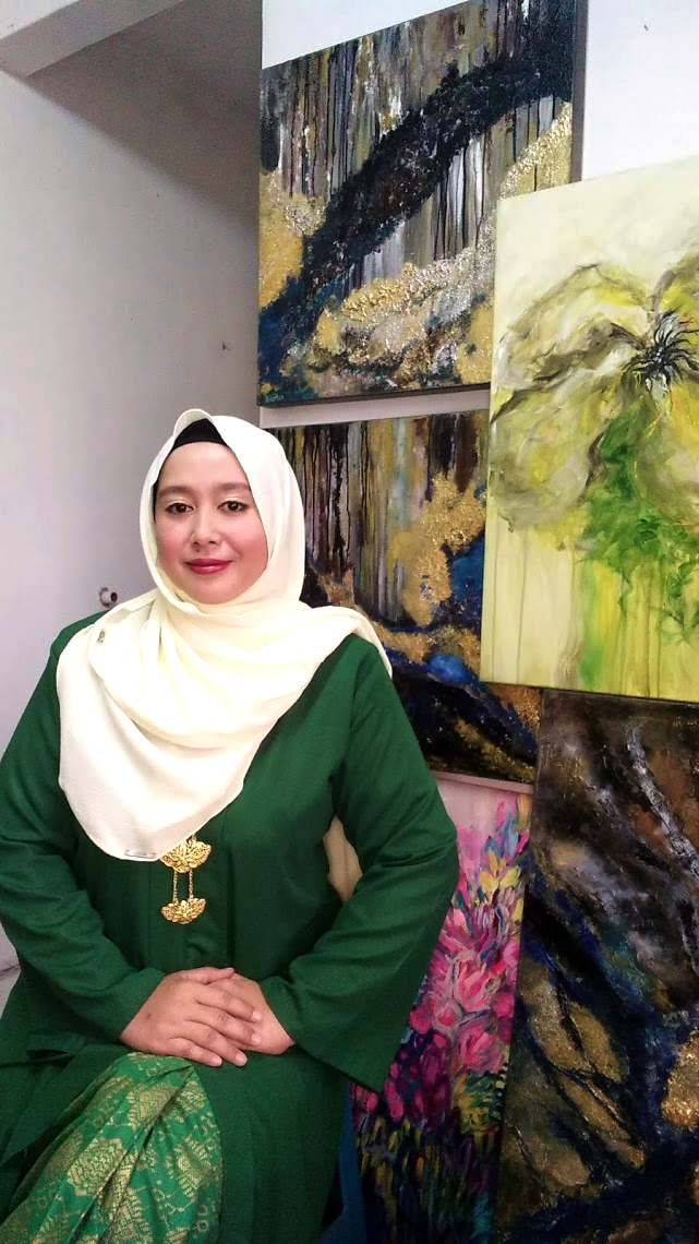 Diana Ismail, Painter of Abstract Floral fine art in Malaysia - Inner Joy Art Gallery