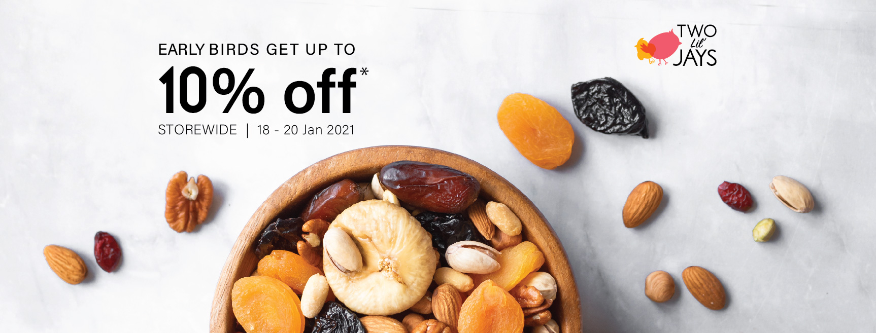 Early Birds Get Up To 10% Off T&C