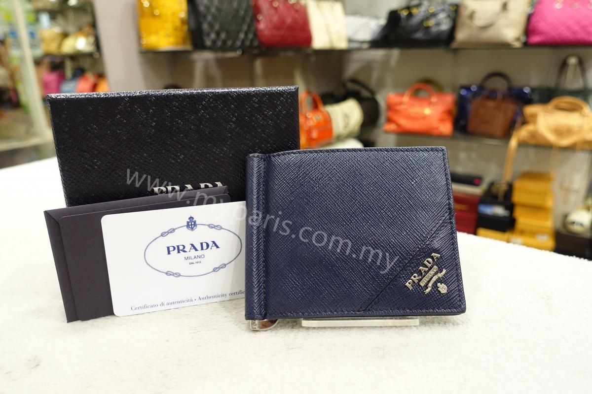c7c1f78d4b25 sold-Prada Baltico Saffiano Leather Money Clip Wallet – My Paris ...