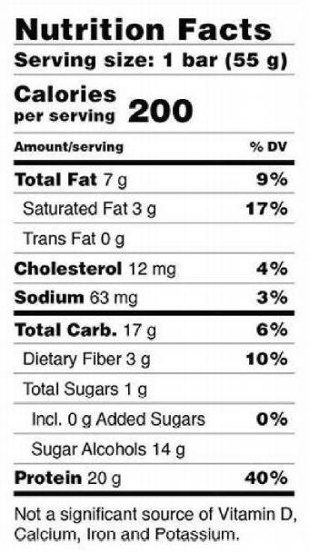 Nutritional value Barebells bar.png