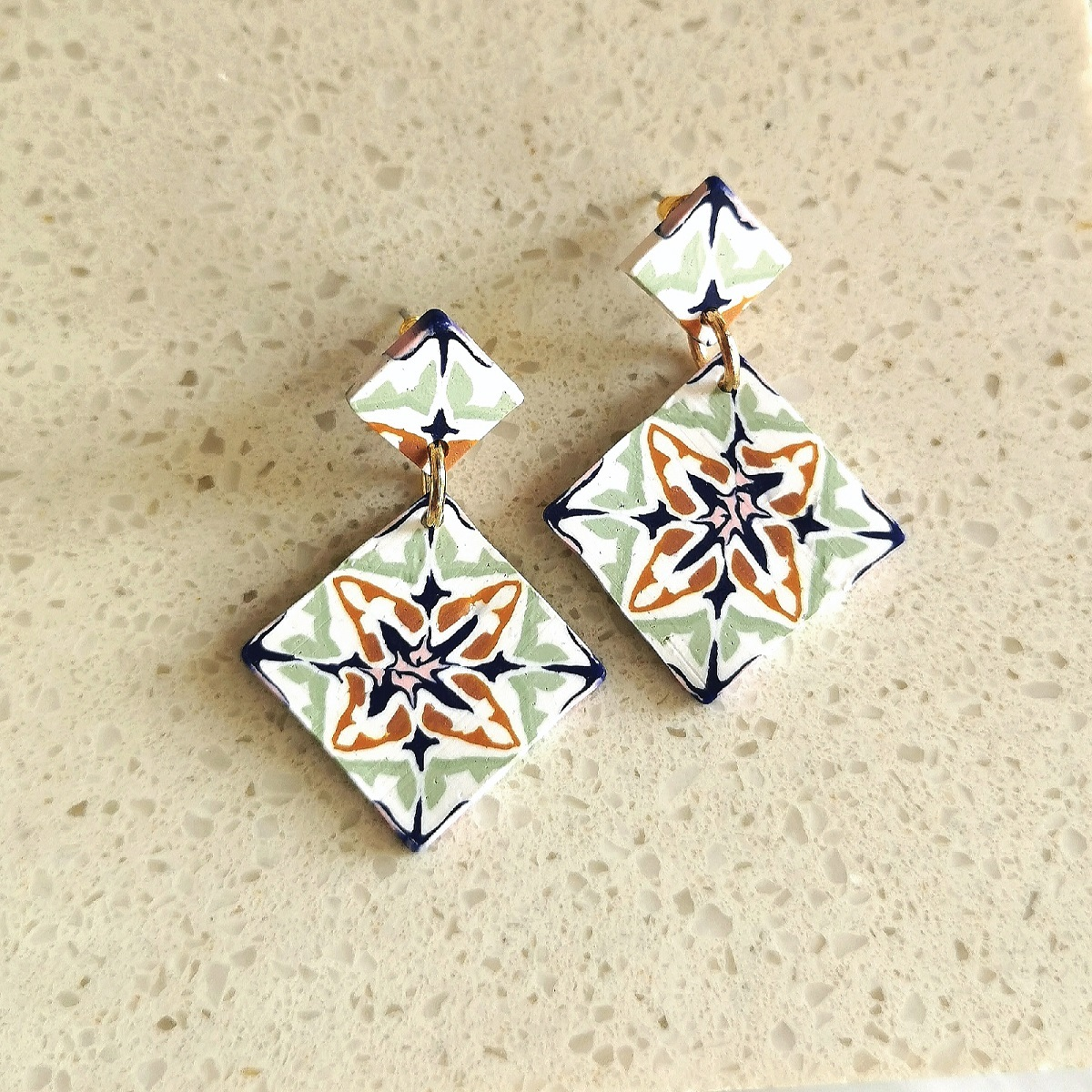 Item 7 - Either _ Or Design Prussian Blue Double Tile Earrings.jpg