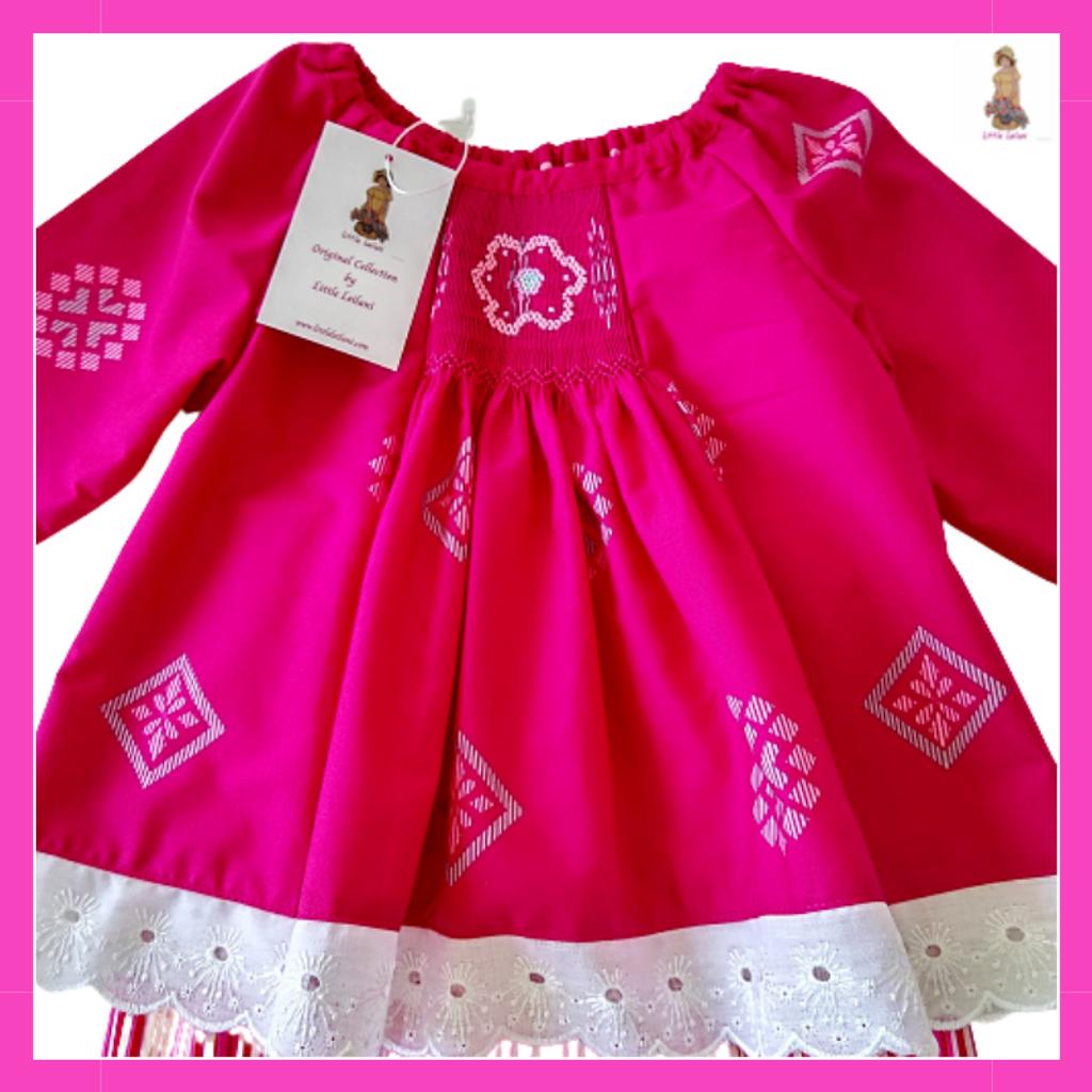Baju Kurung Smocking Pink Little Leilani 4.png
